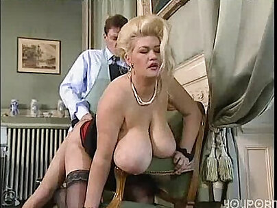 Big Busty Blonde Gets Her Fat Ass Creampied