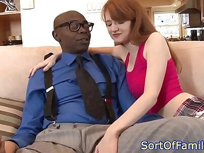 Stepdaughter cocksucking black stepdad
