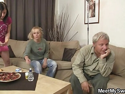 Fucking mother and BF when dad is away