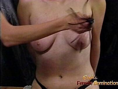 Femdom adult grif dropped by blonde busty nub loving slut