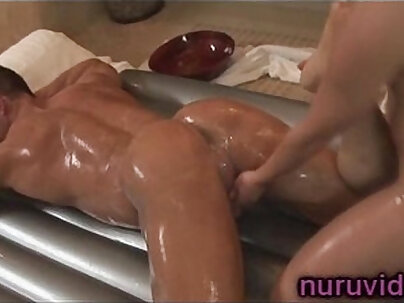Delicious homemade massage for sexy chick