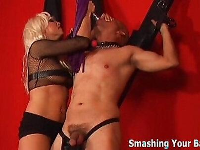 Hot lesbian loser Femdom takes rides