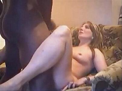 Chubby Wife enjoys Hidden Interracial Sex in Bed