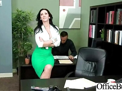Busty secretary Isabella Martinez and nasty office manager finally get to work