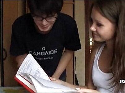 Amateur Couple Hazing Young Teen Girl Rammed