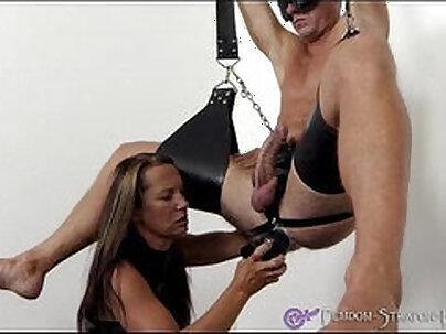 Tight kinky femdom slave deepthroats mistress