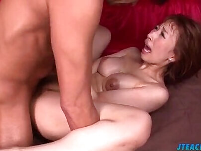 Crazy horny Asian gal gets her yoni drilled hard with a dildo and masturbates