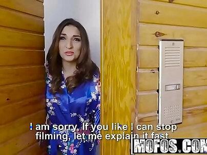 Mofos - latina sex tapes - spanish babe seduces salesman starring juan lucho and jimena lago