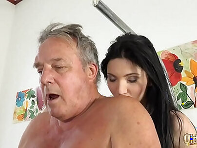 Nasty threesome with stepdad and grandpa