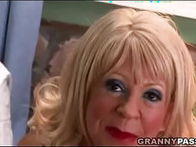 Hot granny big tits hooker gets anally fucked in her pussy