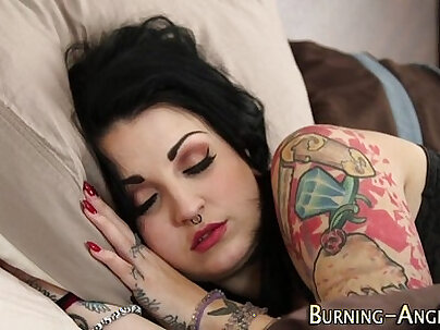 emo slut loves getting fingered and screwed by bbc