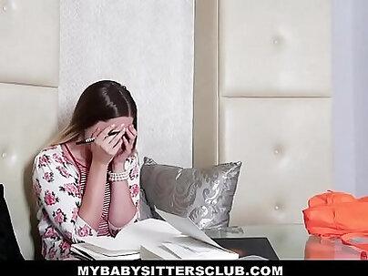 MyBabySittersClub Horny Blonde BabySitter Fucks Boss