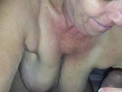 Horny granny Thais wants to suck big black cock