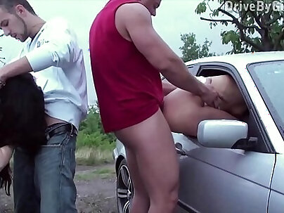Girls ass exposed out the window for anyone to fuck in public sex gang bang orgy
