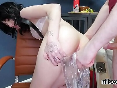 Kinky sweetie is taken in anal madhouse for painful treatment