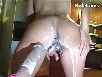 Dildo Fucking A Hot Creamy Pussy