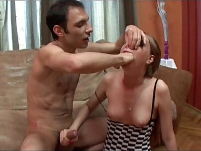 Chest gagged before forced to face
