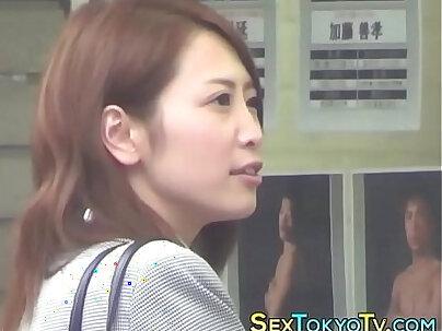 Astonishing solo Japanese babe Miyi Dizon fucked hard