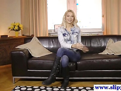 Classy real casting young European gets fucked hard by big dick