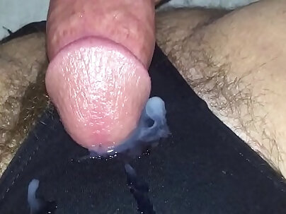 Cumming on wives panties from coke