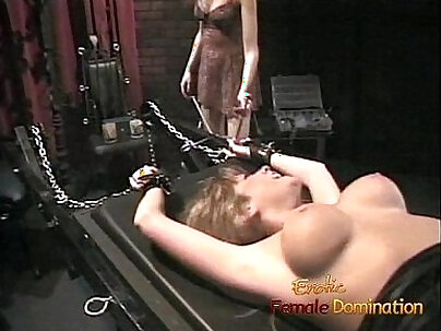 Blonde pussy fucked hard in the dungeon