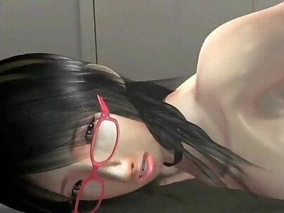 Auburn Japanese cutie Kosaka Sarai is fond of giving loving handjobs