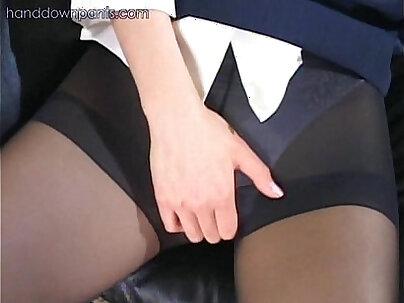 Candid CBT and Pantyhose Masturbation Boots