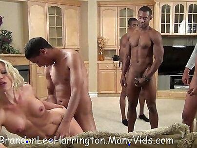 BBC Tie Bound Interracial Gangbang