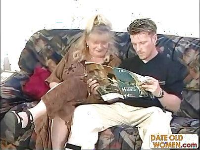 BBW Mature German Masturbates On Sofa