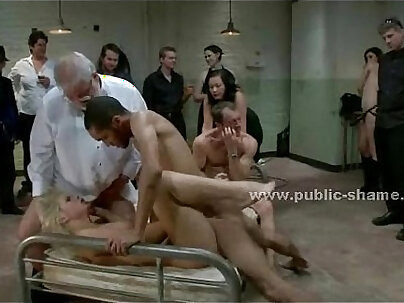 Blonde gets nagged and forced a hard cock