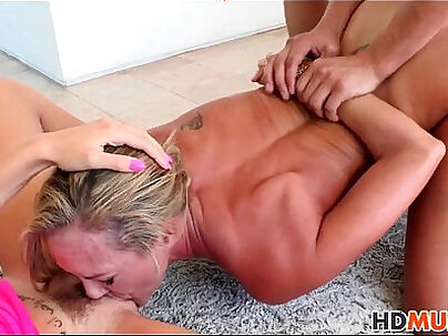 Big tits mom and bf share dick on sex date
