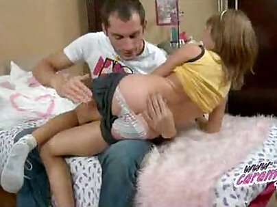 Sexy schoolgirl Cission King fucked and anal fingered