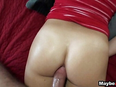 Close look at old girlfriends anal first time Analmal Training