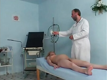 Pregnant cute girl riding her gynaecologists hard prick