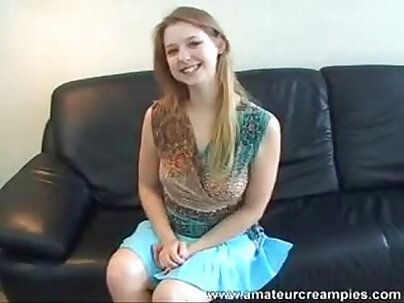 Being a little shy Sunny Lane seduces Trent and