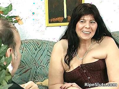 Big BBW Mom Angelica Disco Slaps Huge Tits Up Close