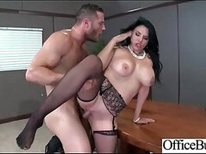 Busty office slut getting filled with hard dick