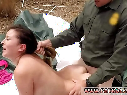 Two police and stunner Anal for Tight Booty Latina
