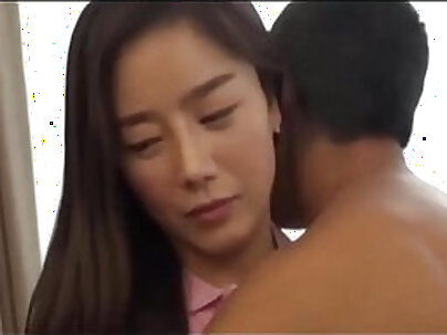 Charming korean babe provides her man with moist blowjob