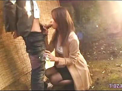 Asian Beauty Giving Blowjob and Cum Play