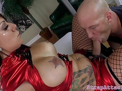 Bigtit mistress pegs and gives rimjob
