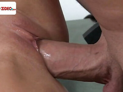 Sexy babe Courtney Taylor has naughty sex in the office