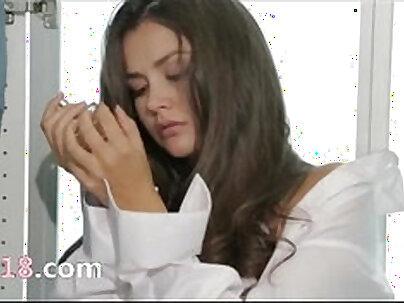 Amazing girl sybil flashing tits on webcam topless