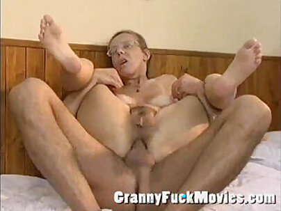 Real old granny playing cowgirl