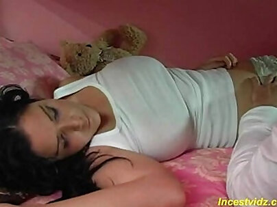 Bad brother fucked his cute busty sleeping sister
