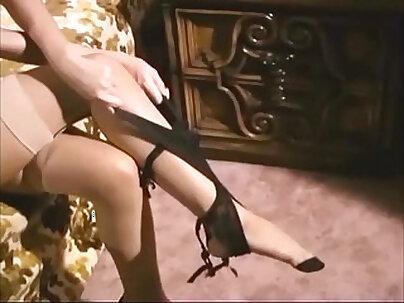 Glamour Blonde sex in stocking