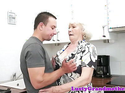 Blonde Granny Mentions Best Friend as she Rects