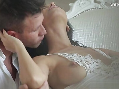 Erotic hot cowgirl rides on a rod