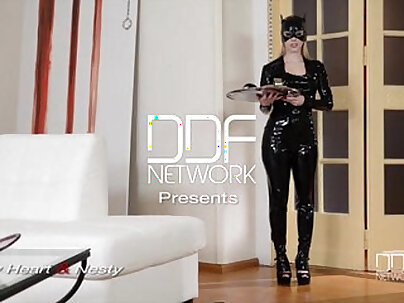 Latex Femdom enjoys Anal show on cam with Russian starlet Lucy Heart