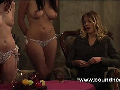 Mistress gets a surprise from lesbo slave